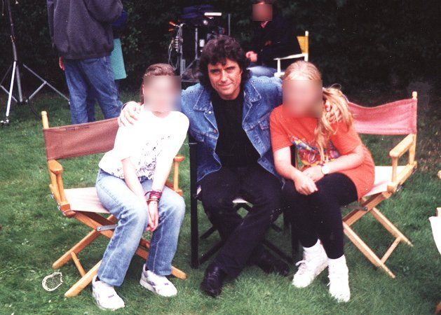Ian McShane (aka Lovejoy)  photographed during filming at The Old Convent