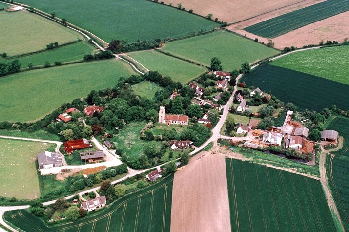 Kettlebaston from the air - mid 1990's
